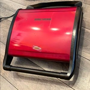 Red George Foreman grill